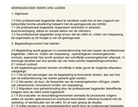 Gedragscode voor LVSC-leden
